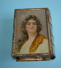 ANTIQUE IMPERIAL RUSSIAN LITHO TIN Traveling SOAP BOX Case Like a BOOK