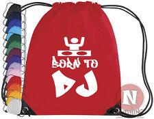 Born to DJ headphone kit bag. Drawstring PE school music bag