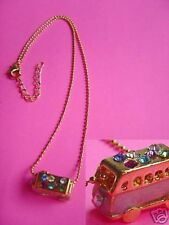 Necklace Pink Bus