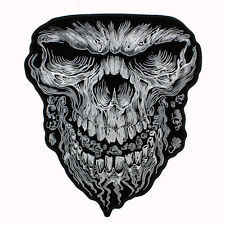 Großer Biker Motorrad Giant Skull Totenkopf Aufbügler Aufnäher Patch Backpatch