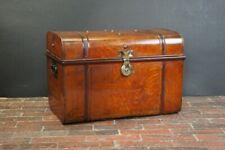 Beautiful Vintage Tin Trunk with Brass Lock