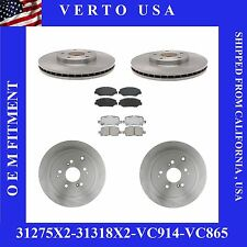 Front & Rear Set of 4 Brake Rotors and 8 Ceramic Pads for a 03-08 Honda Pilot