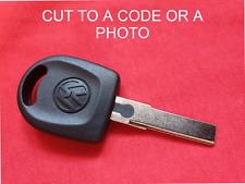 VW VOLKSWAGEN TRANSPORTER UP SCIROCCO KEY BLANK CUT 2 CODE OR A PHOTO NO CHIP