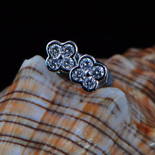 Solid 18kt White Gold Natural Diamond Fashion Party Earring