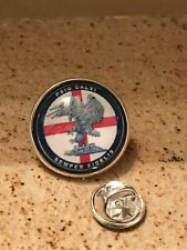 GROS PIN'S 2cm Métal Argenté Fantaisie Gendarmerie PSIG Calvi Corse