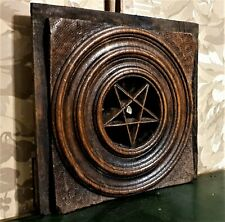 18 th star concentric circle carving panel Antique french architectural salvage