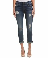 NWT 7 For All Mankind 29 Josefina Skinny Boyfriend Jeans Crete Island 2 Destroy