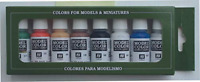 Vallejo Model Color Wargames Basics Acrylic Paint Set - Assorted Colours Pack of