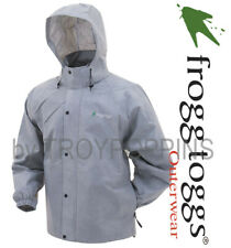 FROGG TOGGS RAIN GEAR-PA63123-07 GRAY PRO ACTION MENS JACKET-WET FISHING HIKING
