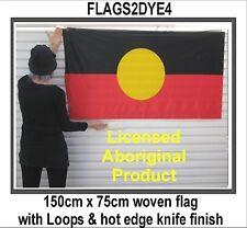 Aboriginal flag large Indigenous design Australian made licensed quality weave