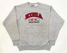Vintage CCM Koha Hockey Crewneck Sweatshirt Gray M Canada Sewn Embroidered