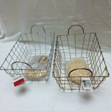 2/Lot Party Supply Iron Gift Basket 4pc Kit Christmas Holiday Gold, Silver New