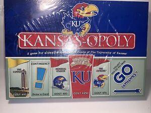 KU KANSASOPOLY Monopoly Game - The University of Kansas Jayhawks - New Sealed
