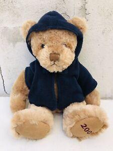 "Burberry Fragrances 12"" Teddy Bear 2009 Blue Sweater Hoodie Stuffed Animal Plush"