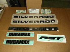 2019 Chevrolet Silverado Duramax RST Black 6 Piece Emblem Kit~84300954~OEM GM~19