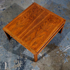 Mid Century Danish Modern Side Table End Square France & Son Restored Oak Wood