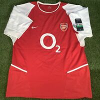 BRAND NEW With Tags XL Arsenal INVINCIBLES Shirt - VTG Retro 2002 2003 2004 Top