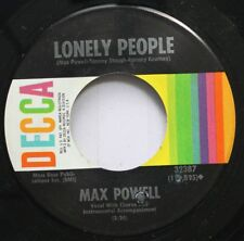 Country 45 Max Powell - Lonely People / I'Ve Been Cheated sur Decca