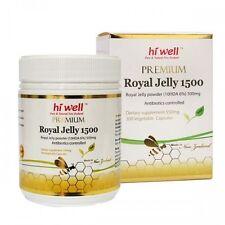 Hi Well PREMIUM Royal Jelly 1500mg 10HDA 6% 300 Capsules FREE SHIPPING