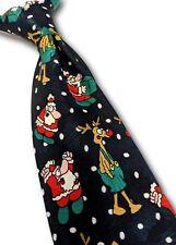 M&S boy's kid's Christmas novelty tie Santa & Rudolph Reindeer
