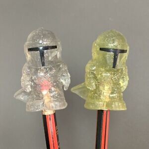 2 Rare ooshies Exclusive Woolworths Disney Plus Star wars Trooper Pencil Topper