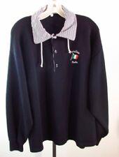 PORTOFINO ITALIO Men's Racing Sweatshirt Button Up w Drawstring Collar Size XXL