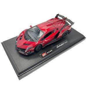 1/24 Lamborghini Veneno Model Car Metal Diecast Toy Vehicle Boy Collection Red