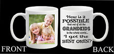 Personalised Grandkids Photo Mug Best Mug Grandchildren Grandad Grandma Gift