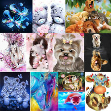 DIY 5D Dog Cat Animals Diamond Painting Embroidery Cross Stitch Home Decor Craft