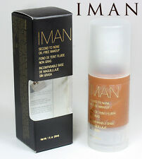IMAN FOND DE TEINT FLUIDE NON GRAS SECOND TO NONE CLAY 3 , 30ml MARQUE USA ZZZZ