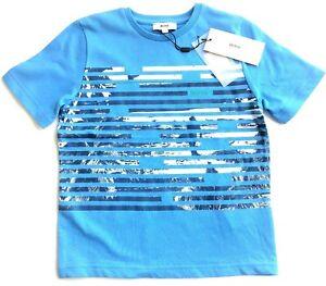 Boys Genuine Hugo Boss Pale Blue Cotton T-Shirt 4yrs-16yrs J25A49/78E CLEARANCE