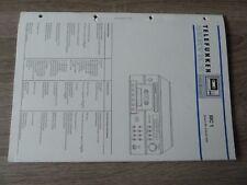 Telefunken MC1 Cassettedeck / Cassetterecorder Original Service Manual