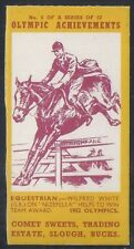 COMET SWEETS-OLYMPIC ACHIEVEMENTS PACKAGE ISSUE-#06- EQUESTRIAN - WILFRED WHITE