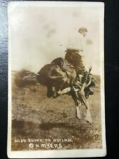 RPPC GILES ESSEX RODEO COWBOY RIDING HORSE OUTLAW