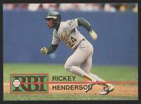 1991 BALLSTREET RBI (REGIONAL BASEBALL INDEX) #14 RICKEY HENDERSON