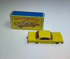 Top! Matchbox Lesney Chevrolet Impala Taxi Cab + original box RW MB 20c a partir de 1965