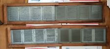 Vintage Window Air Vents,Two Are Wood & Zinc Metal,Adjustable For Length,1900's