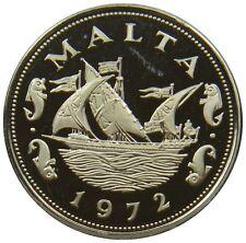 (e31) - malta - 10 centavos - 1972-Galera-barco-proof - km # 11