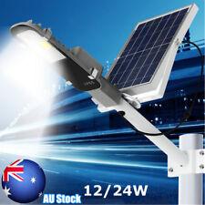 12W 24W Solar COB LED Light Sensor Street Road Lamp Outdoor Garden Waterproof