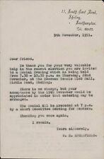 Southampton. 1931.  W E Englefield, 11 South East Road, Sholing. - Permain JD315