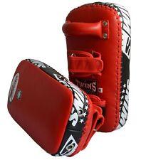 TWINS Unterarmpratzen Leder, Paar. Thaipratzen, Muay Thai, Kickboxen 20x41x8cm