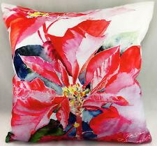 Poinsetta Flower Burst by Ruth S Harris (Artist) Evans Lichfield Cushion Cover