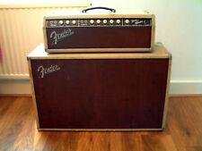 Vintage 1962 Fender Bandmaster (6G7-A) Blonde Piggyback Amp and Cab