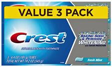 CREST Whitening 'Fresh Mint' Baking Soda & Peroxide  3 x 161gr =484 gr aus USA