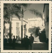 Espagne, La Palma, Santa Cruz, Centre Ville Vintage print, Photographie provenan