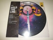 """TOTO HOLD THE LINE / ALONE VINILE EP 10"""" PICTURE DISC NUOVO BLACK FRIDAY 2017"""