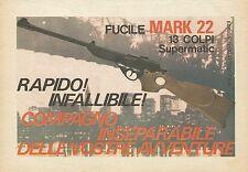 X7703 Fucile Mark 22 Supermatic - Edison - Pubblicità 1977 - Vintage Advertising