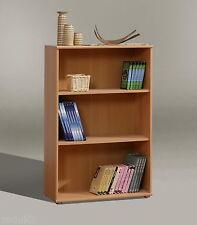 Tempra Short Wide Bookcase Shelves Shelving Storage Unit Beech Effect KR40-127