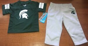 NCAA Licensed Michigan State Toddler Shirt & Pants Outfit Set New 12 Months