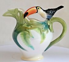 FRANZ PORCELAIN ~ Paradise Calls ~ Toucan Milk Or Cream Jug ~ FZ00345 ~ Perfect